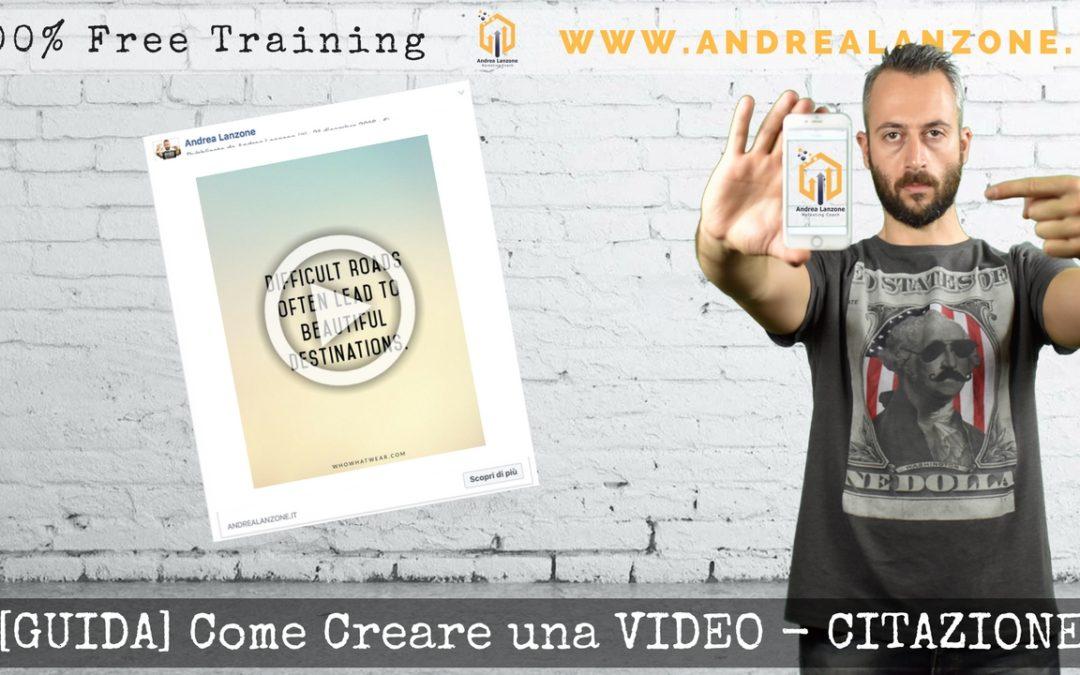 Come creare una Video-Citazione