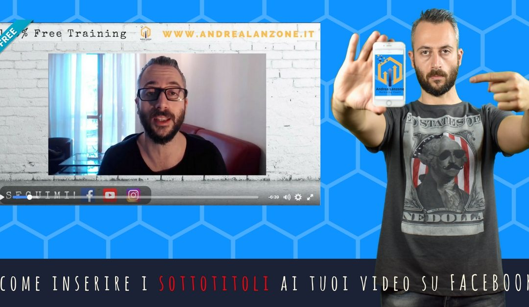 sottotitoli video facebook